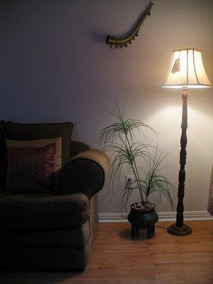 tall wood lamp for the living room corner living room decor pinterest house tours home. Black Bedroom Furniture Sets. Home Design Ideas
