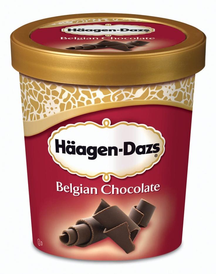 Belgian chocolate! Haagen-Dazs
