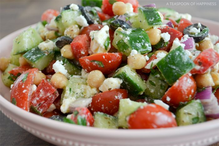 Mediterranean Chickpea Salad - A Teaspoon of Happiness | A Teaspoon of Happiness