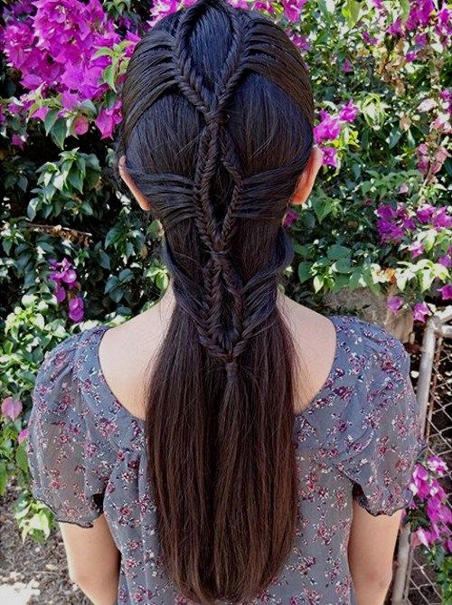 fancy braided hairstyle for girls