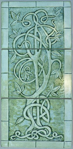 Celtic Knotwork Tree Tile. Lots of beautiful knot inspired tile at this site.
