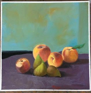 Art by Viorica Buga: FRUIT, oil on canvas,40x40 cm