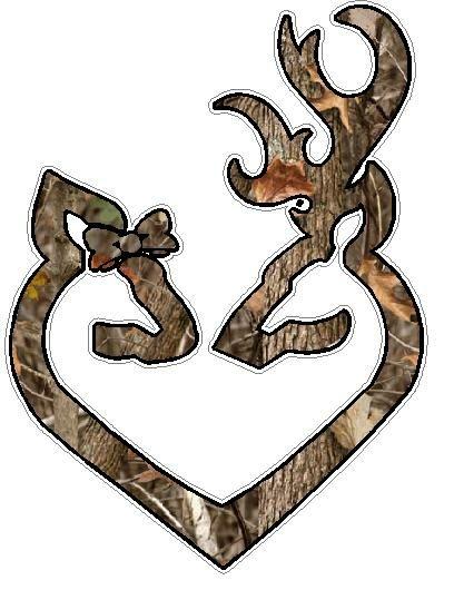Deer Heads Heart Fills Nature Camo Cakes Browning