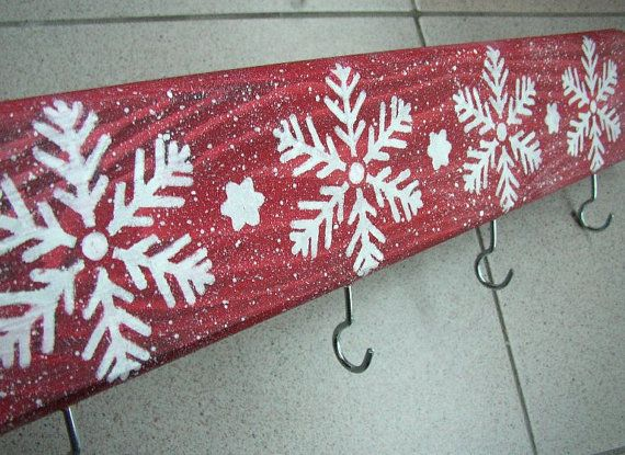Snowflake Stocking Holder Christmas Stocking by ForesteDiOro