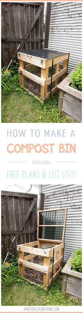how to build a diy compost bin free plans u0026 cut list