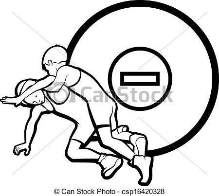Female Junior Wrestling Clipart