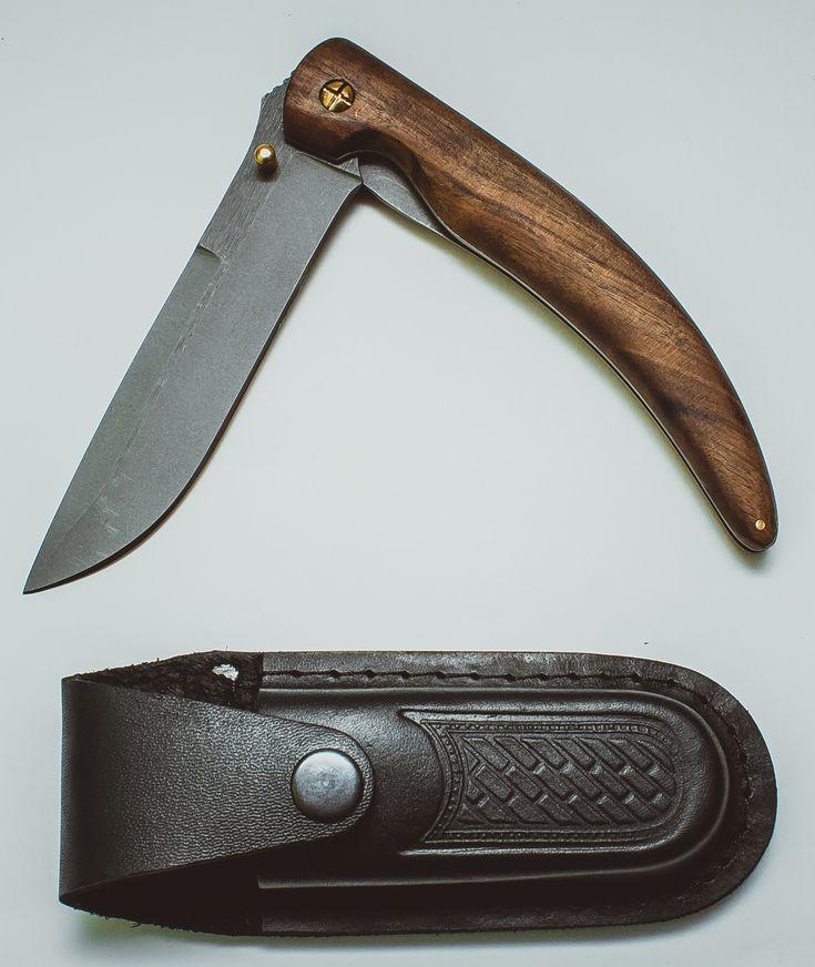 Складной нож Нарвал, сталь 95х18, орех - купить в интернет магазине