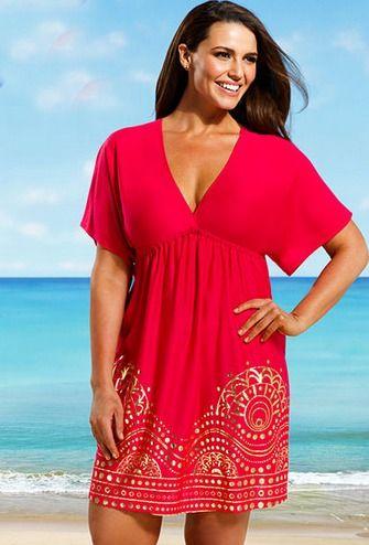 30 Great Plus Size Swim Cover Ups  Massive List Womens fashion #plussize #fashion #swim #coverup from BigGirlsGuide.com