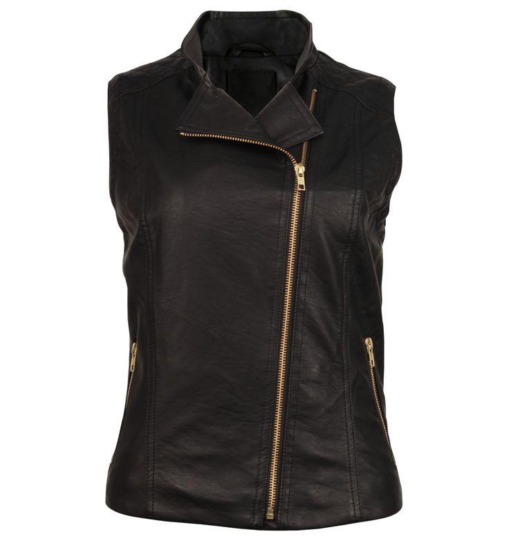 Sleeveless Biker Jacket
