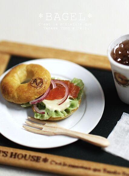 *BAGELランチ* - *Nunu's HouseのミニチュアBlog* 1/12サイズのミニチュアの食べ物、雑貨などの制作blogです。