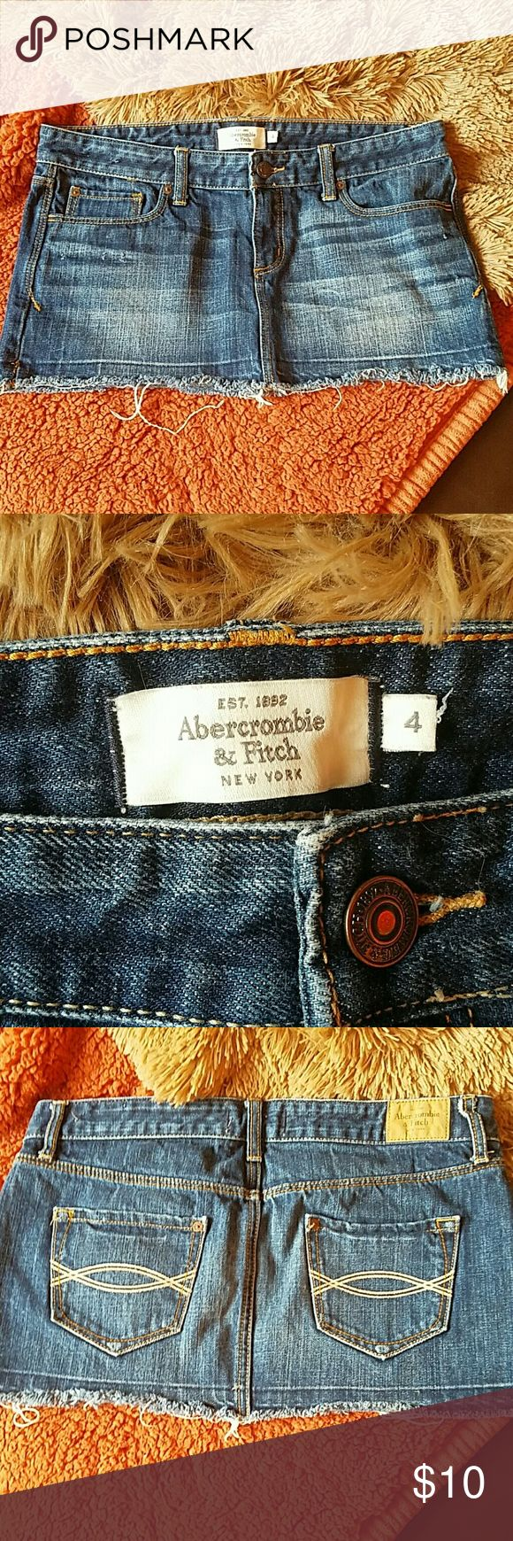 Abercrombie and Fitch Denim Mini Skirt Size 4 denim mini skirt Abercrombie & Fitch Skirts Mini