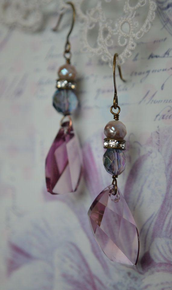 Purple Passion Swarovski crystal rhinestone and von Purrrls auf Etsy