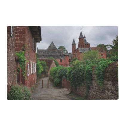 #Collonges-la-Rouge the red village in France Placemat - #travel #trip #journey #tour #voyage #vacationtrip #vaction #traveling #travelling #gifts #giftideas #idea