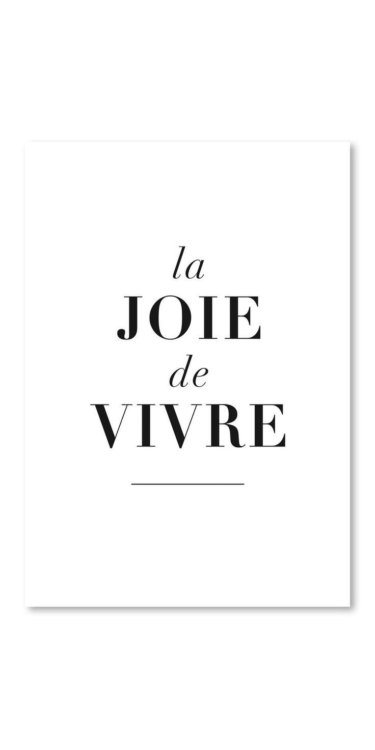 Poster La Joie De Vivre