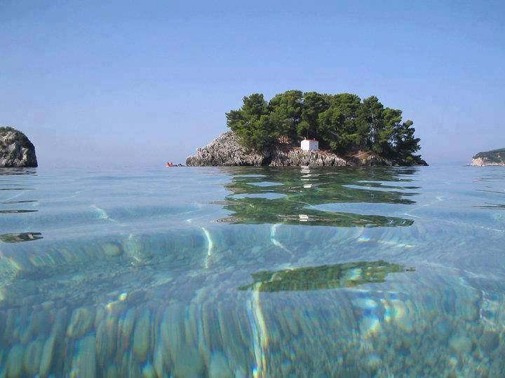 Little islet of Virgin Mary in Parga, Epirus
