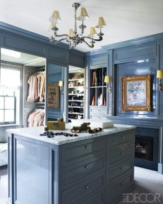 closet by kemble interiors: Dressing Rooms, Elle Decor, Dreams Closet, Interiors, Fireplaces, Paintings Colors, Closet Design, Master Closet, Dresses Rooms