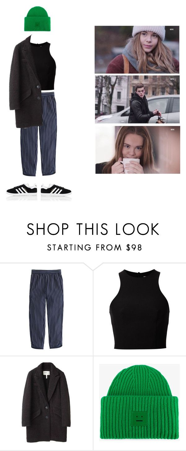 """Eva Kviig Mohn"" by asmin ❤ liked on Polyvore featuring J.Crew, T By Alexander Wang, Étoile Isabel Marant, Acne Studios, adidas, EVA, skam and evamohn"