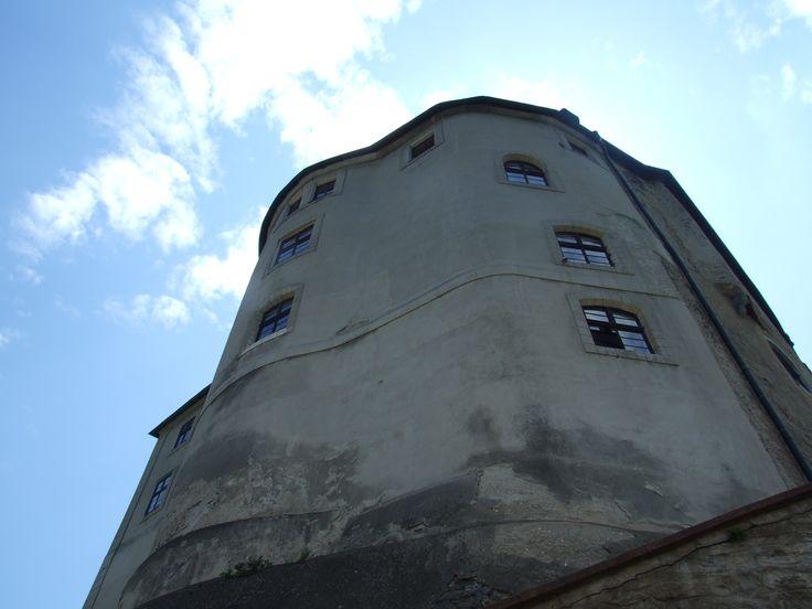 Český Šternberk (distr.Benešov, central Bohemia)- corner of the castle´s palace