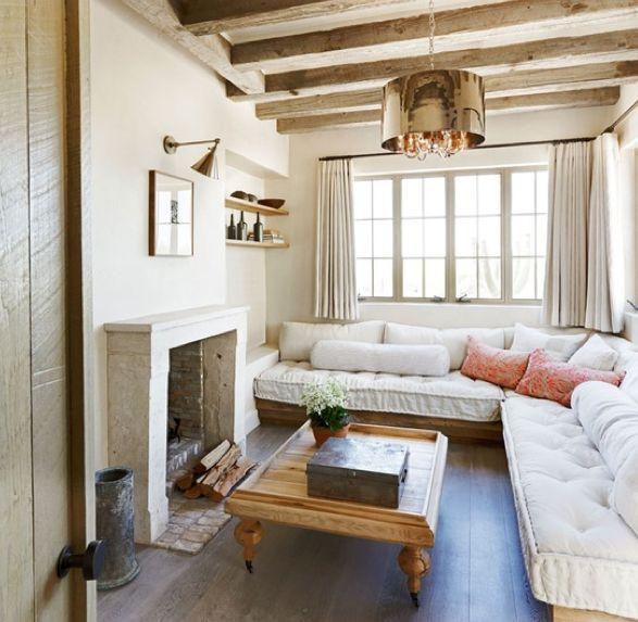 living room couch!  Love how deep it is, the slant and all those pillows!