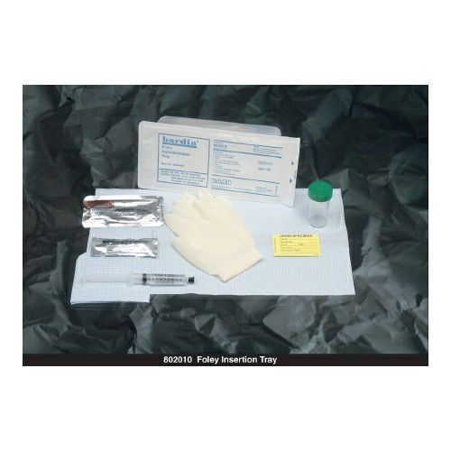 Indwelling Catheter Tray Bardia Foley Without Catheter Without Catheter | Bard #802010. Bard Medical BARDIA Foley Insertion Trays from PRO2Medical.com includes Foley catheter prepping components only. Tray includes waterproof underpad, fenestrated drape, 5g lubricating jelly, 2 latex-free exam gloves, specimen container with label or graduated collection container. 3 Povidone iodine or 3 BZK swabsticks. CSR-wrap package or Peel-top package. Single-use...