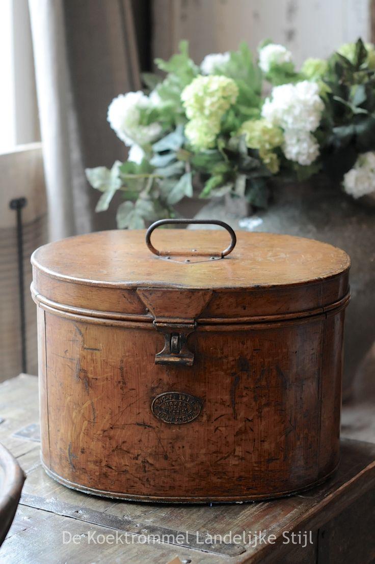 Vintage English Hatbox