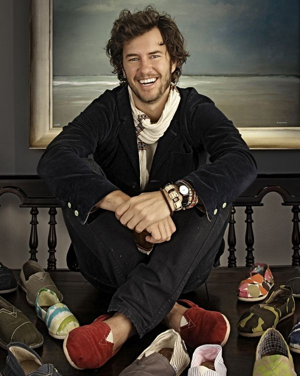 Blake Mycoskie, founder of Tom's Shoes: successful, philanthropic, into shoes, and pretty cute, too.