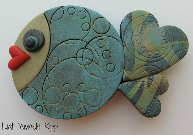 Polymer Clay Fish Magnets by Liat R, via Flickr
