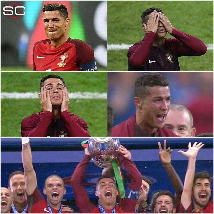The #EURO2016 Final, as told by #CristianoRonaldo's facial expressions!!