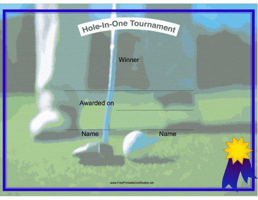 54 best golf images on pinterest golf theme golf party and golf hole in one winner printable certificate pronofoot35fo Images