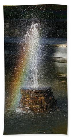 Rainbow Fountain - Bath Towel