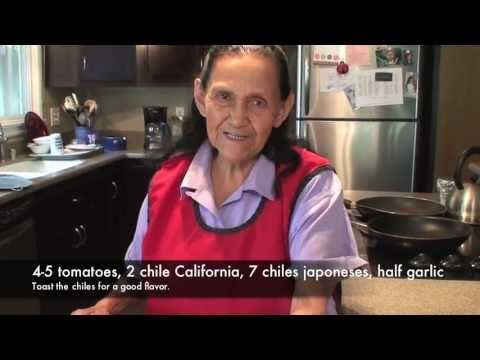 How to make Chicharron con Chile Colorado...love this series of videos. The older lady has her hair pulled back and wearing a red smock like my mom often would wear....gosh I miss her terribly...
