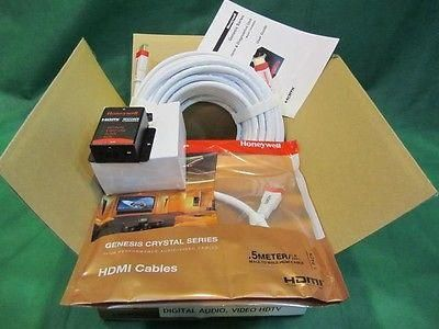 Honeywell 7030KT01 HDTV HDMI RESTORER Kit W/ 100 Ft MALE HDMI CABLE.