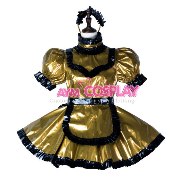 lockable sissy maid  PVC Vinyl dress CD/TV Tailor-made[G2356] | eBay