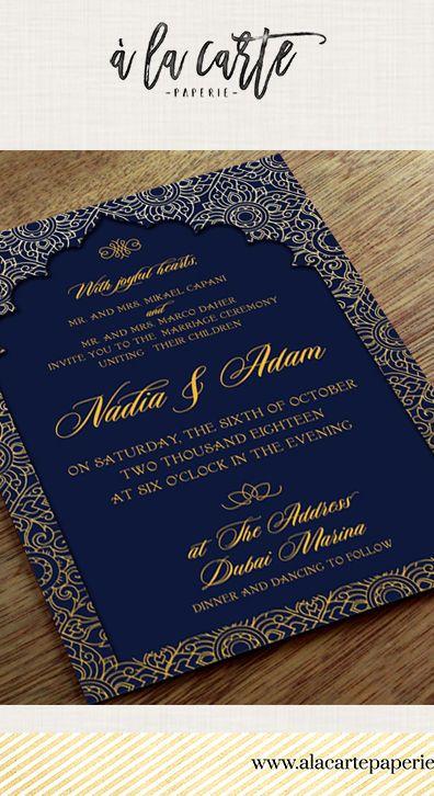 Dubai Uae Wedding Invitation