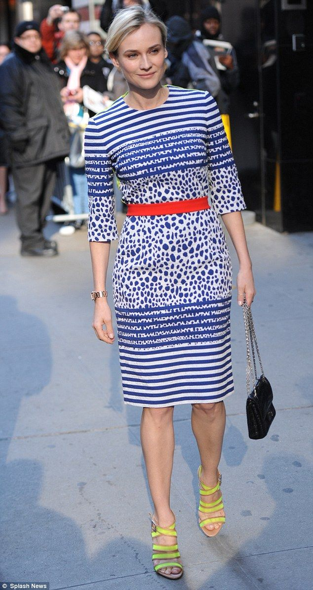 "Diane Kruger in Preen, on Good Morning America promoting ""The Host"", 2013."