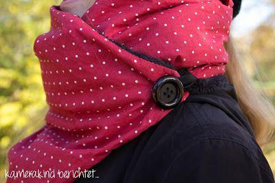 Nähanleitung Schal mit Knopf