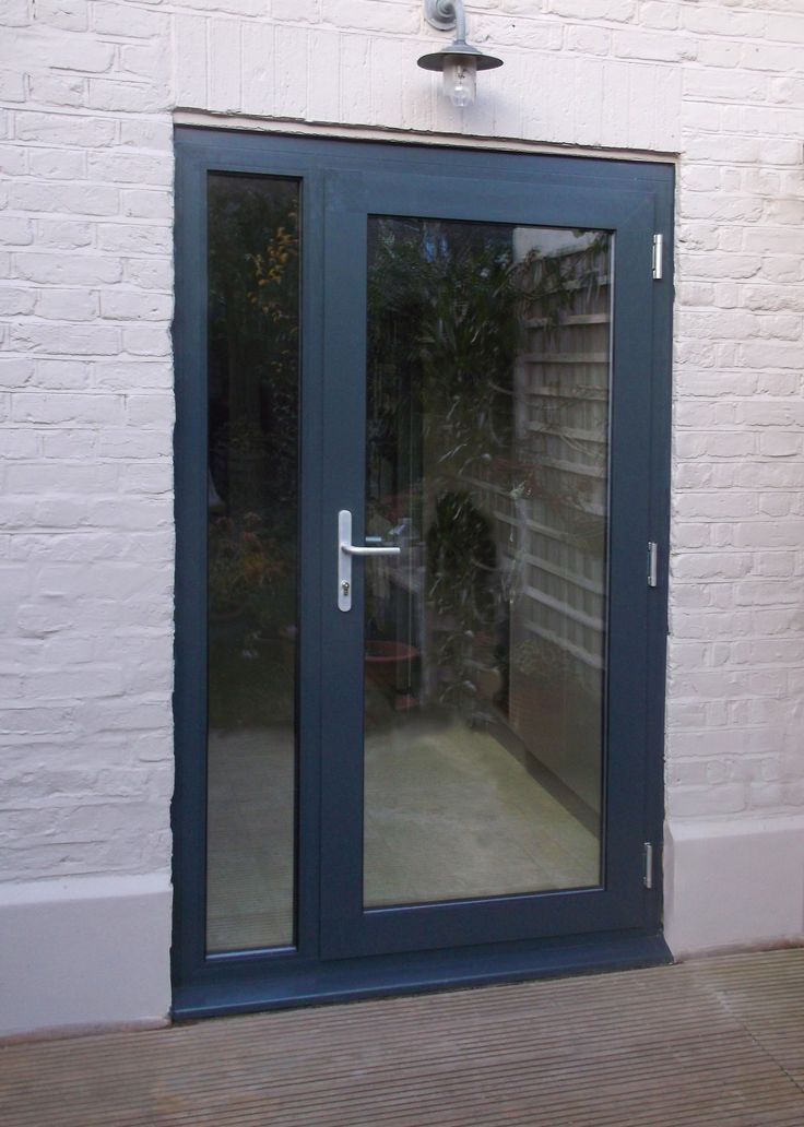 Aluminium single door kl70 configuration 3 painted ral for Aluminum french doors