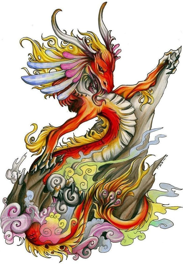 картинки графика цветные драконы может
