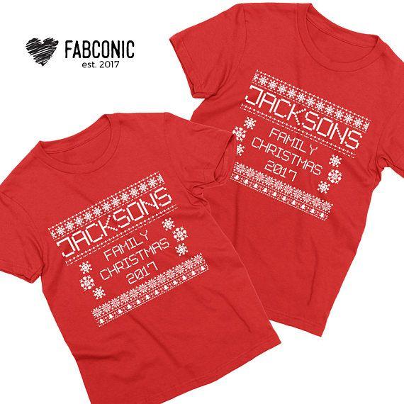 Custom Family Name Custom Christmas Shirts Christmas Family