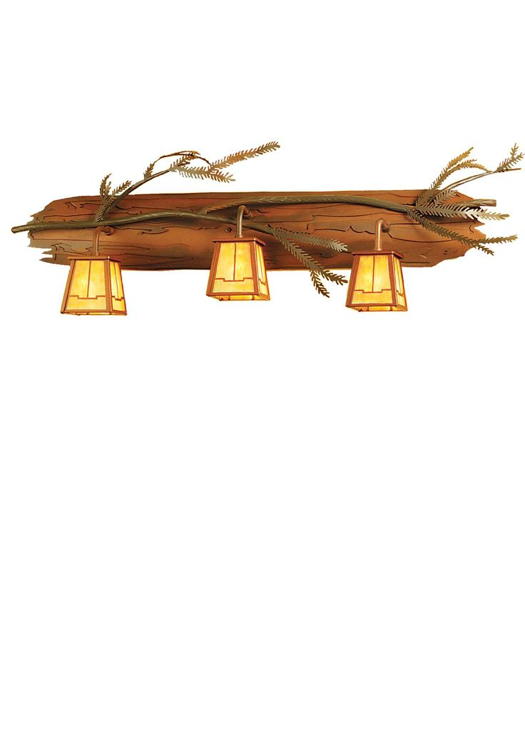 """36 Inch W Pine Branch Valley View 3 Lt Vanity Light - 36 Inch W Pine Branch Valley View 3 Lt Vanity Light Theme: RUSTIC LODGE Product Family: Pine Branch Valley View Product Type: WALL SCONCES Product Application: THREE LIGHT Color: RUST/BAI Bulb Type: HALOGEN Bulb Quantity: 3 Bulb Wattage: 60 Product Dimensions: 13.5""""H x 36W x 5DPackage Dimensions: NABoxed Weight: 9.5 lbsDim Weight: 72 lbsOversized Shipping Reference: NAIMPORTANT NOTE: Every Meyda Tiffany item is a unique handcrafted work…"""