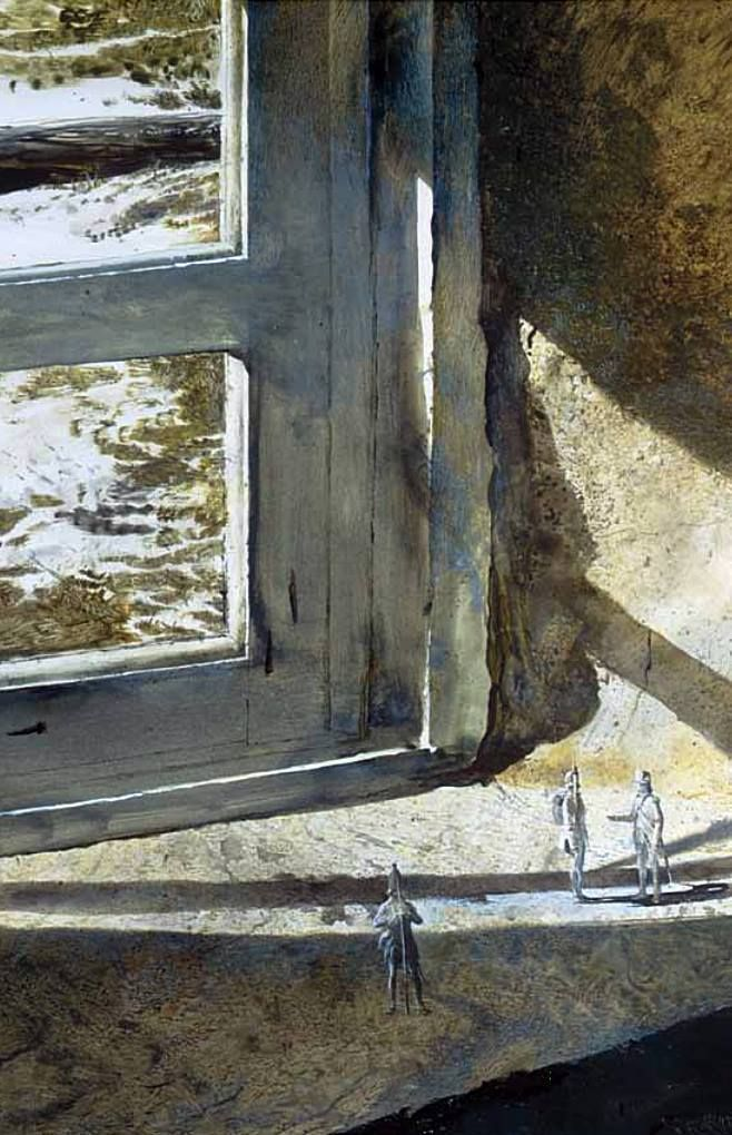 urgetocreate: Andrew Wyeth, British At Brandywine, 1962, drybrush w/c