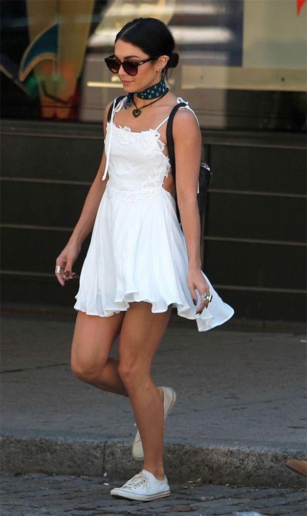 Street style look Vanessa Hudgens