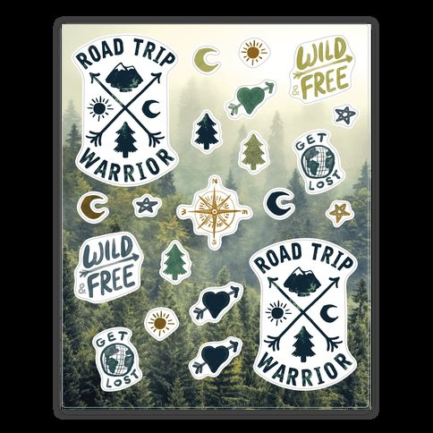 These cute outdoor stickers are perfect for all road trip warriors who love to travel and live the bohemian life on the road. These these hipster stickers are great for fans of travel, wanderlust, wanderlust quotes and hipster quotes.