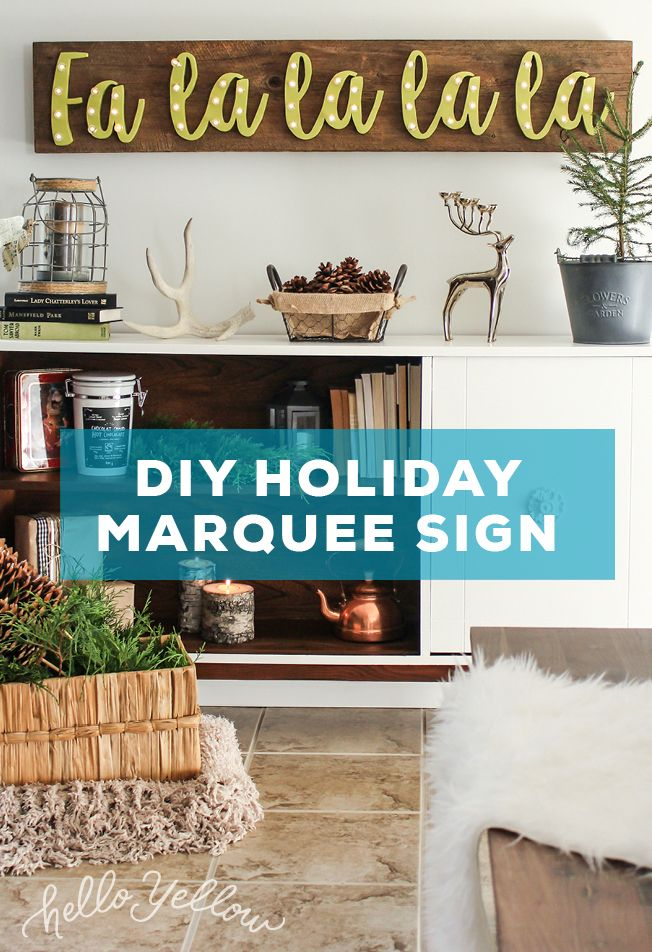 EASY DIY Holiday Marquee Sign! #LeonsHelloHoliday