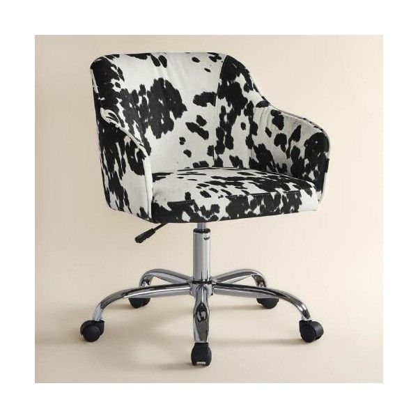 Cost Plus World Market Udder Madness Cow Print Velvet Jozy Home Office