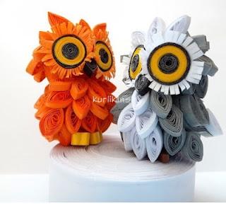 3D Quilling: Owls  Kurlikins ;; so cute!