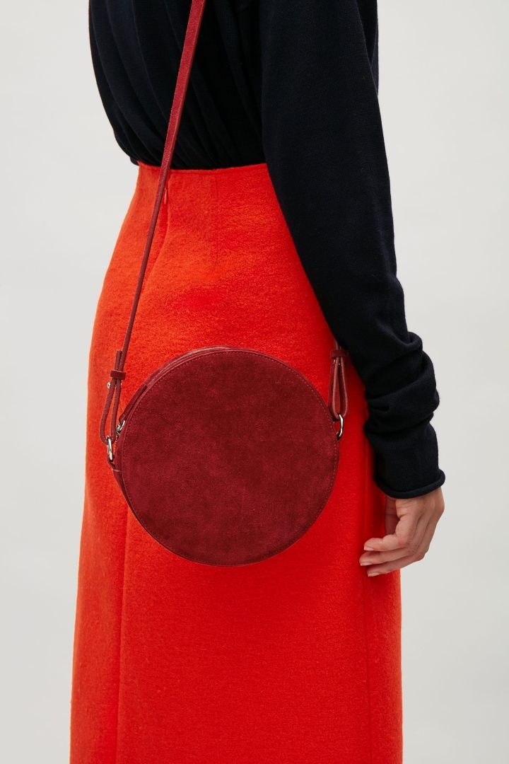 COS image 9 of Circular shoulder bag in Red
