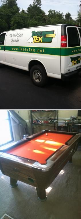 If your used pool table needs a makeover, Table-Tek is more than happy to rebuild or refinish it. They also have professional movers who specialize in moving all types of pool and billiard tables.