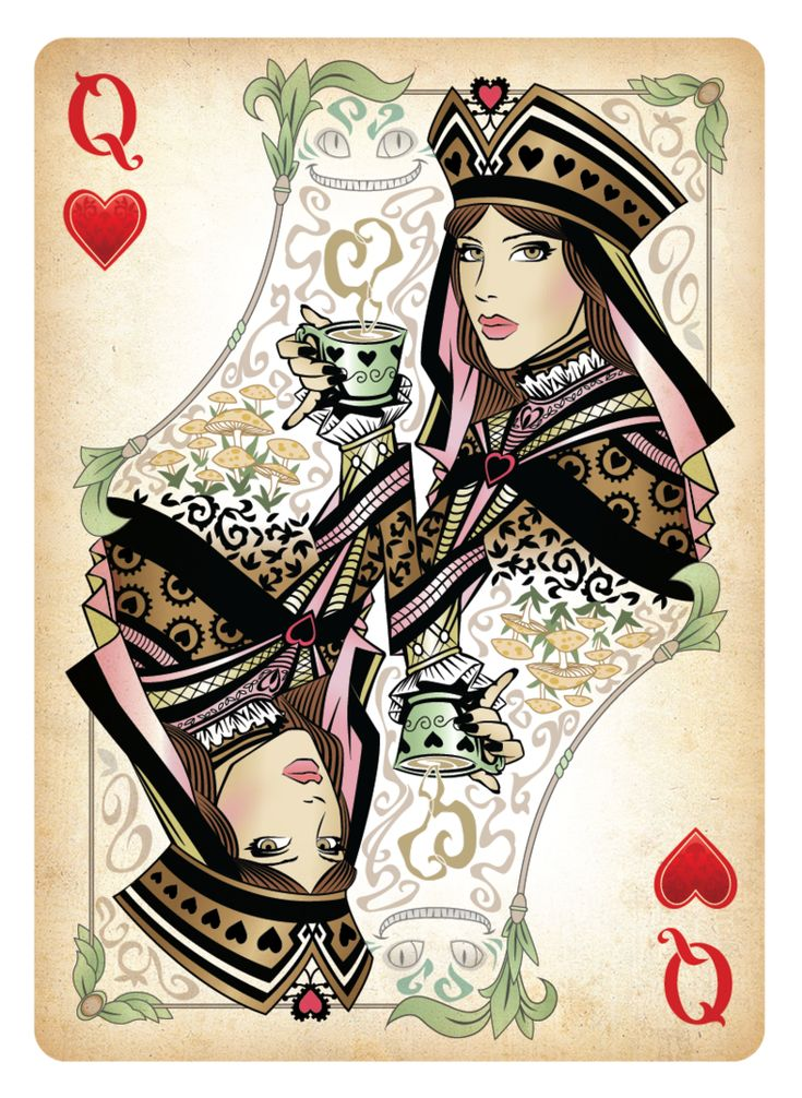 The Queen of Hearts Playing Card by Sketch2Draw