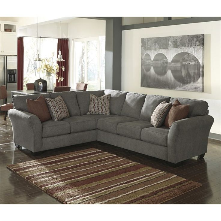 Homestore Gallery: Ashley Furniture Doralin 2 Piece Sectional In Steel